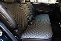 Чехлы на автомобильные сиденья из экокожи (задний комплект, черный). Авточехлы