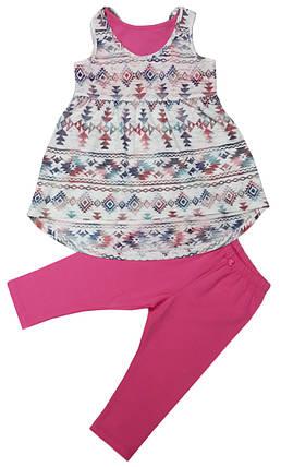 Костюм летний на девочку  туника+шорты ТМ Бемби КС504 размеры  128  , фото 2