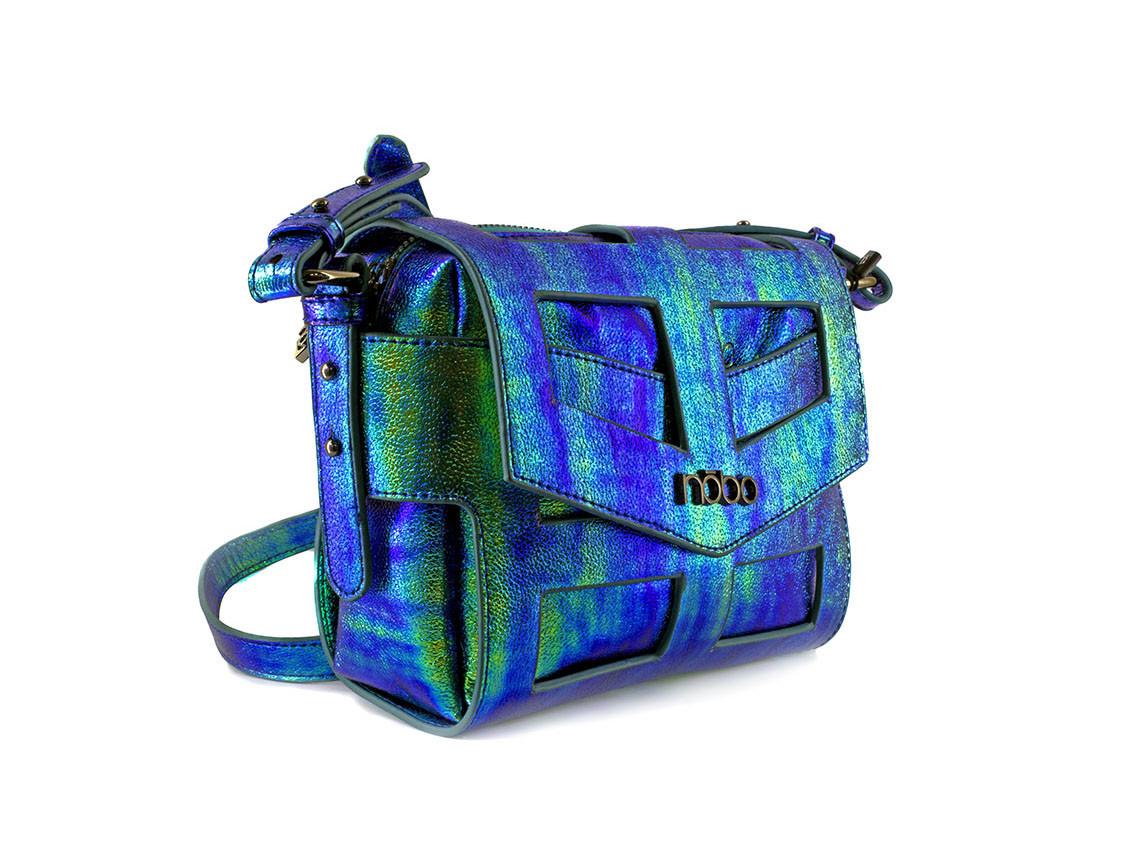 """Женская сумка польской фирмы """"Nobo"""". Цвет-синий хамелеон."""