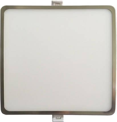 Светодиодная панель SLIM RIGHT HAUSEN HN-235028 12W 4000K квадратный сатин Код.57749, фото 2