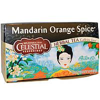 Celestial Seasonings, Травяной чай с мандарином и апельсином, без кофеина, 29 пакетиков, 1.9 унций (54 г)