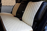 Чехлы на сиденья из экокожи бежевые. Задний комплект. Авточехлы