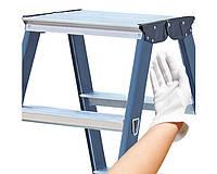 Лестницы и стремянки KRAUSE Двухсторонняя лестница-стремянка KRAUSE SeProD с анодированным покрытием 2x6 ступеней