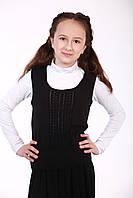 Жилетка для дівчинки, чорний, фото 1