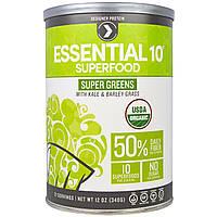 Designer Protein, Органические основные 10 суперпродуктов, зеленые овощи, включая капусту и траву ячменя, 12 унций(340 г)