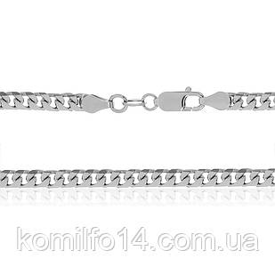 Серебряная цепь Гурмет (Панцирь) круглый 55см.