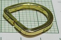 Полукольцо для сумок (Италия) металл, разъемное (отполированное, золото)