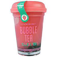Etude House, Bubble Tea, ночная маска с клубникой, 3.5 унции(100 г)