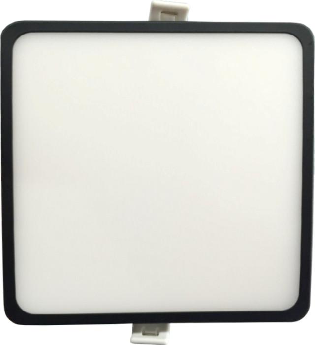 Светодиодная панель SLIM RIGHT HAUSEN HN-235022 12W 4000K квадратный черный Код.57892