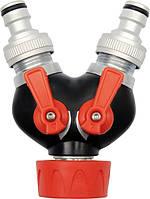 Yato тройник 2-клапанный хромированная 9941