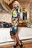 Яскраве трикотажне молодіжне квіткове плаття