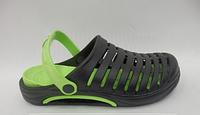 Мужская обувь сабо для огорода черно-зеленые 45