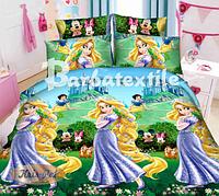 Детское постельное белье 150*220 Ранфорс принцеса Рапунцель