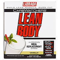 Labrada Nutrition, CarbWatchers Lean Body, Vanilla, 20 Packets, 2.29 oz (65 g) Each