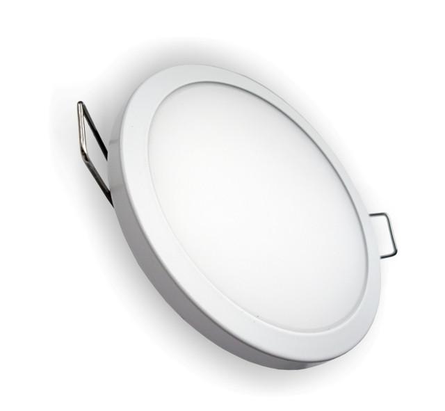 Светодиодная панель SLIM RIGHT HAUSEN HN-234010 6W 4000K круглый белый Код.57885