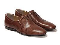 Мужские туфли в рыжей коже