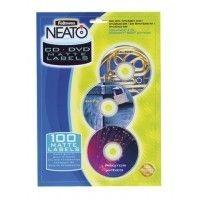 Этикетки самоклеющиеся Матовые этикетки с вкладыша NEATO для CDDVD дисков, 20 шт. компл. f.99922 Fellowes (f.99922 x 26739)