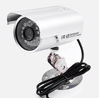 Внешняя цветная камера видеонаблюдения ZX-711SD с записью видео/звука на карту памяти, ИК подсветкой