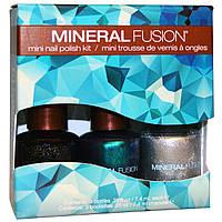 Mineral Fusion, Северное сияние, Комплект мини лаков для ногтей из трех штук по .25 унции (7.4 мл) в каждом