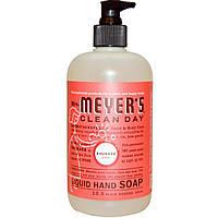 Mrs. Meyers Clean Day, Жидкое мыло для рук, запах ревеня, 12,5 жидких унций (370 мл)