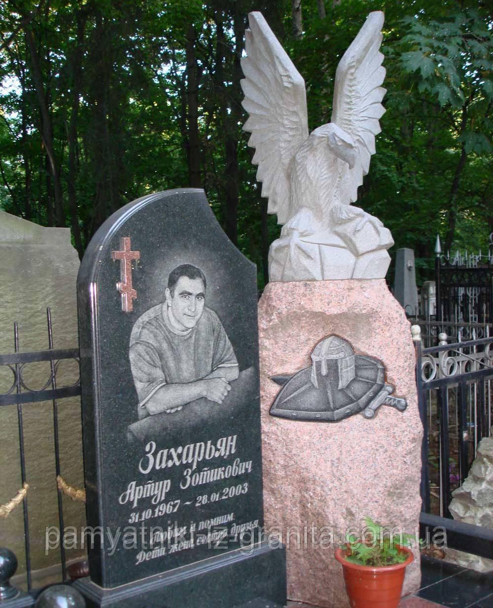 """Уникальная скульптура из гранита """"Орел защитник"""""""