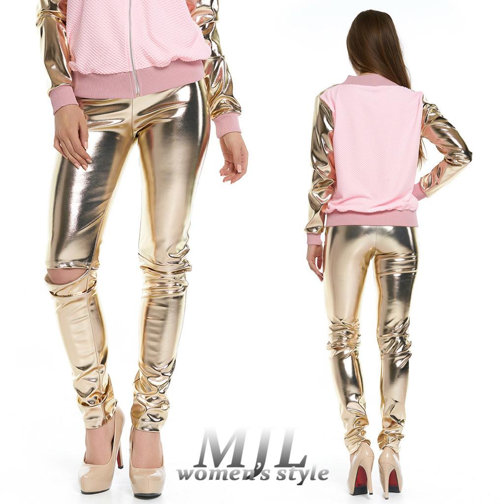 85a783984d8 Золотые кожаные лосины Лисиа - DS Moda - женская одежда оптом от  производителя в Харькове