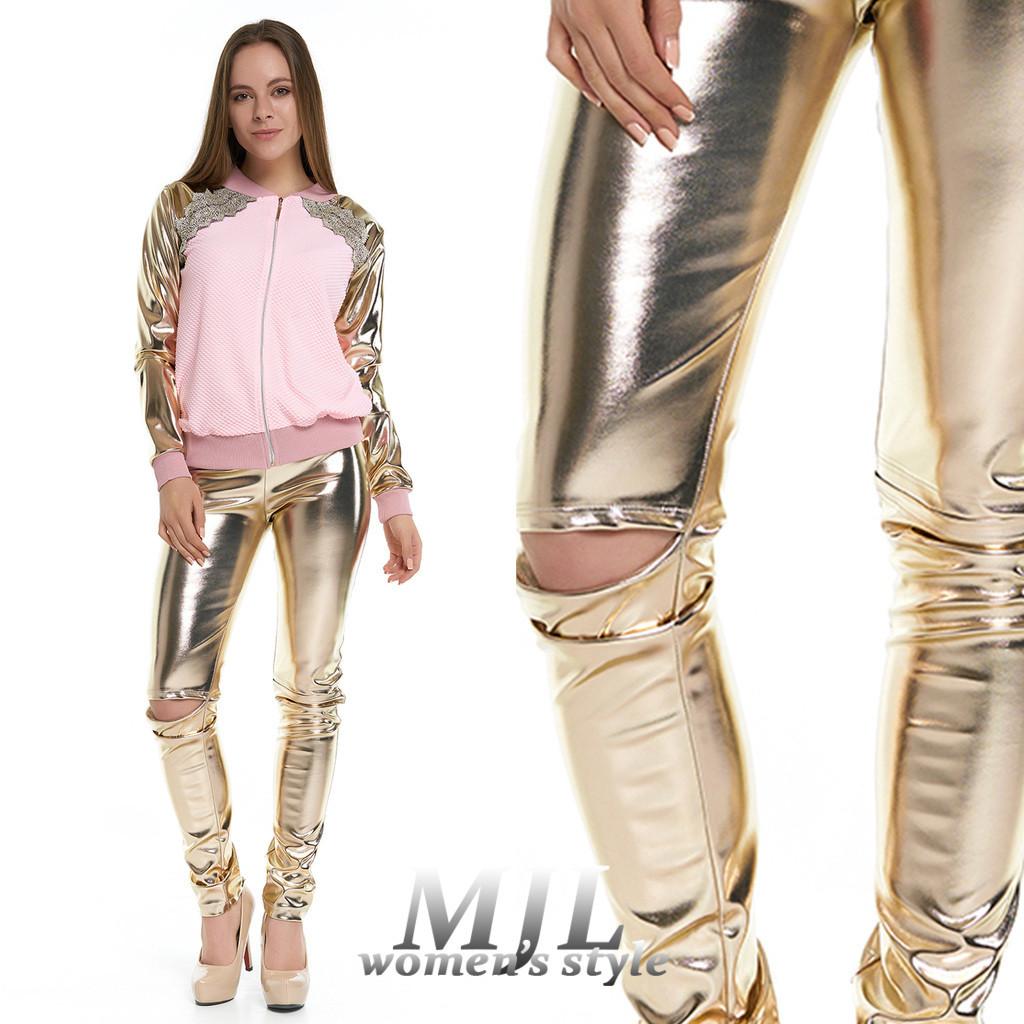 37806d2f120 Золотые кожаные лосины Лисиа