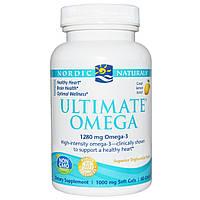 Nordic Naturals, Ultimate Omega, со вкусом лимона, 1000 мг, 60 желатиновых капсул