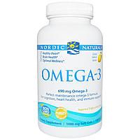 Nordic Naturals, Oмега-3 со вкусом лимона, 690 мг, 120 желатиновых капсул