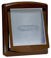 Дверца Staywell Original для собак средних пород, коричневая, 352х294 мм