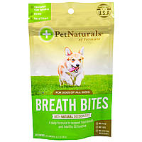 Pet Naturals of Vermont, Breath Bites Zip Lock Bag, For Dogs, 60 Chews, 3.17 oz (90 g)