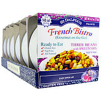 St. Dalfour, Французское бистро (Gourmet on the Go), три вида фасоли и сладкая кукуруза, 6 упаковок, 6,2 унции (175 г) каждая