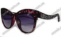Стильные солнцезащитные очки с кристалами в стиле MIU MIU фиолет