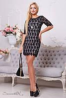 Черное кружевное вечернее платье, фото 1