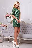 Зелене плаття гіпюрову, фото 1