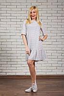 Платье женское с рюшей белое
