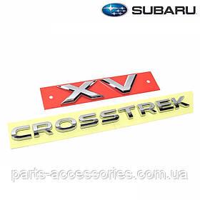 Subaru XV Crosstrek 2013-17 эмблемы значки шильдики на багажник Новые Оригинал
