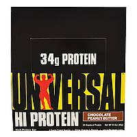 Universal Nutrition, Батончики с высоким содержанием белка, арахисовое масло с шоколадом, 16 батончиков, 3 унции (85 г) каждый