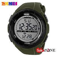 Гарантия! Подарок! Часы skmei 1025 зеленые
