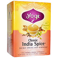 Yogi Tea, Классический индийский чай со специями без кофеина, 16 чайных пакетиков, 1.27 унций (36 г)