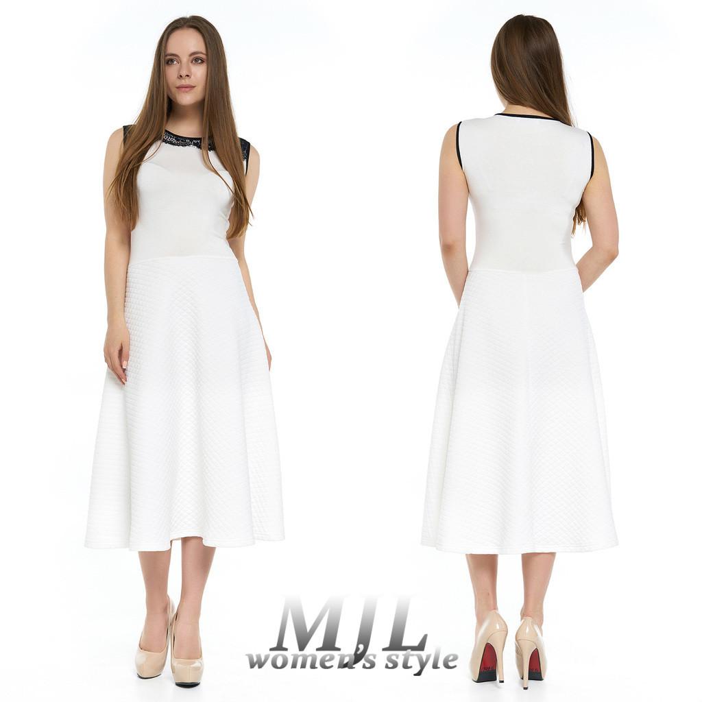 c85a82e4608 Белое летнее платье Лорена - DS Moda - женская одежда оптом от производителя  в Харькове