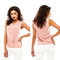 Однотонная блуза с V-образным вырезом, в 13 расцветках.