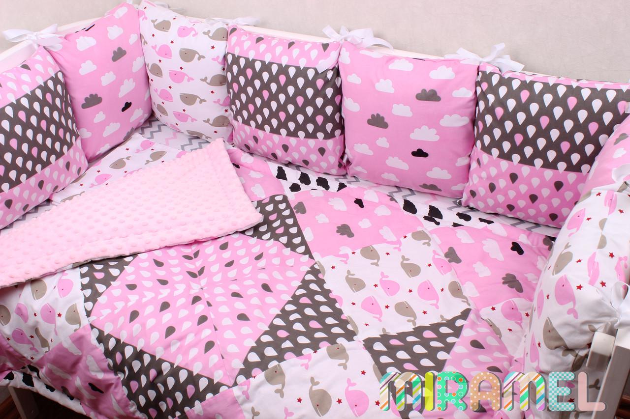 Компект постельного белья и защиты для девочки