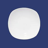 Суповая квадратная белая тарелка стеклокерамика 20 см. хорека SNT 13606