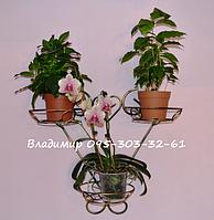 """Подставка для цветов на 3 чаши """"Сердце-3"""", фото 1"""
