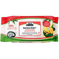 Aleva Naturals, Влажные салфетки для сверхчувствительной кожи Bamboo Baby Wipes, без отдушки, 72 влажных салфетки, 7,9 x 6,7 дюймов (17 x 20 см)