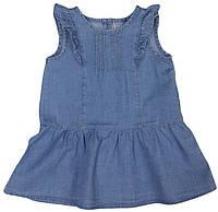 Платье джинсовое детское летнее  ТМ Бемби ПЛ171 размер 80 86 92 98