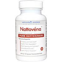 Arthur Andrew Medical, Наттовена, очищенная наттокиназа, 200 мг, 30 капсул