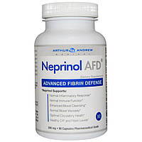 Arthur Andrew Medical, Neprinol AFD, защита организма от вредного воздействия фибрина, 500 мг, 90 капсул