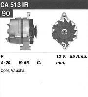 Генератор Opel Astra F Corsa Kadett 1.2 1.3 1.4 1.6 Vectra A 1.4 1.6 55Amp CA513IR